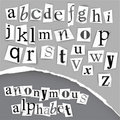 Anonymous alphabet made from newspapers Stock Photo