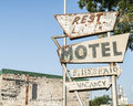 Another abandoned motel sign name lost unloved oklahoma on route usa Royalty Free Stock Photos