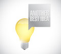 Another best idea light bulb message illustration design over a white background Royalty Free Stock Images
