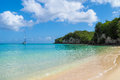 Anse Canot beach at Marie Galante, Guadeloupe Royalty Free Stock Photo