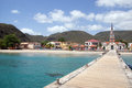 Anse d arlet martinique village and church of anses island west indies Royalty Free Stock Photography