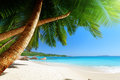 Anse Lazio beach at Praslin island Royalty Free Stock Photo