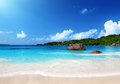 Anse Lazio beach at Praslin island Seychelles Stock Photos