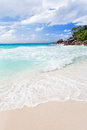 Anse lazio beach at praslin island seychelles Royalty Free Stock Photos