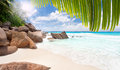 Anse lazio beach on praslin island in seychelles sunny summer day in paradise Stock Photography
