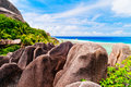 Anse source d argent la digue island the seychelles photo of Royalty Free Stock Photo