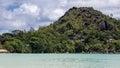 Anse volbert beach sur praslin en seychelles Photos libres de droits