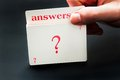 Answers card Royalty Free Stock Photo