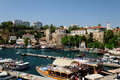 Antalya harbor or marina Royalty Free Stock Photo