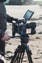 stock image of  ANTALYA, TURKEY - JANUARY 8, 2019: Filming with RED Dragon 6k camera