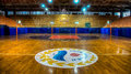 Antalya, Turkey - October 17, 2013: Empty Basketball arena