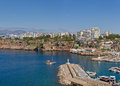 Antalya yacht harbour panoramic view of the in turkey Royalty Free Stock Photos