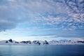 Antarctic peninsula view of the Stock Photos