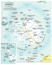 Antarctic region political divisions map area geographical location on the globe Stock Photo