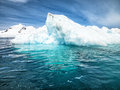 Antarctica beautiful landscape sea and blue sky and sea Royalty Free Stock Images