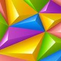 Antecedentes coloridos polígonos del triángulo del vector Fotografía de archivo libre de regalías