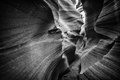 Antelope canyon lower in black and white Royalty Free Stock Photography
