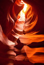Antelope Canyon seen from inside Royalty Free Stock Photo
