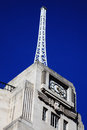 The antenna of the bbc broadcasting house built in an art deco style in in regent street london england uk which was original Royalty Free Stock Image