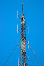 antenna on blue sky Royalty Free Stock Photo