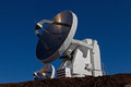 Antenna on mauna kea hawaii Royalty Free Stock Image