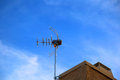 Antenna mounted receiving television signals Royalty Free Stock Photos