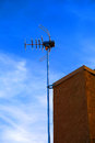Antenna mounted receiving television signals Stock Image