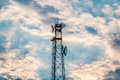 Antenna repeater tower Royalty Free Stock Photo