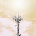 Antenna at the sky Royalty Free Stock Photo