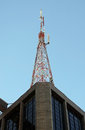 Antenna on top of a building at paulista avenue são paulo brazil Royalty Free Stock Images