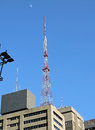Antenna on top of a building at paulista avenue são paulo brazil Stock Images