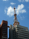 Antenna on top of a building at paulista avenue sao paulo brazil Royalty Free Stock Photography