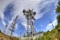 Antenna on communication towers