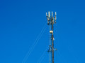 Antenna for use communicate the phone Royalty Free Stock Image