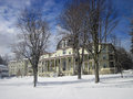 Anthenaeum in winter in chautauqua institution the a landscape Stock Photography
