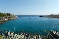 Anthony Quinn Bay, Rhodes, Greece Royalty Free Stock Image