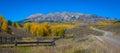 Anthracite Range and Ohio Pass Road in autumn