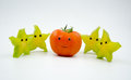 Anthropomorphic fruits Royalty Free Stock Photography