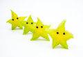 Anthropomorphic fruits fruitsï šsliced carambola like a starfish Stock Image