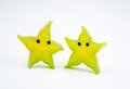 Anthropomorphic fruits fruitsï šsliced carambola like a starfish Royalty Free Stock Photo
