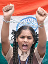 Anti corruption protest in India Royalty Free Stock Images