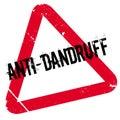 Anti-Dandruff rubber stamp Royalty Free Stock Photo