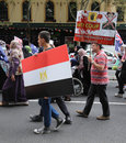 Anti egyptian government protestors in sydney against the current regime march through the streets of australia on january the Stock Photography