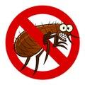Anti flea sign