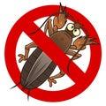 Anti mole cricket sign