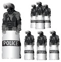 Anti riot police vector set the word comes in several languages eps available Stock Photography