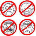 Anti-sadness signs. Stock Images