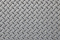 Anti slip gray metal plate with diamond pattern Royalty Free Stock Photo