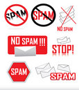 Anti-spam icons Stock Images