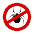 Anti spider sign - Royalty Free Stock Photo